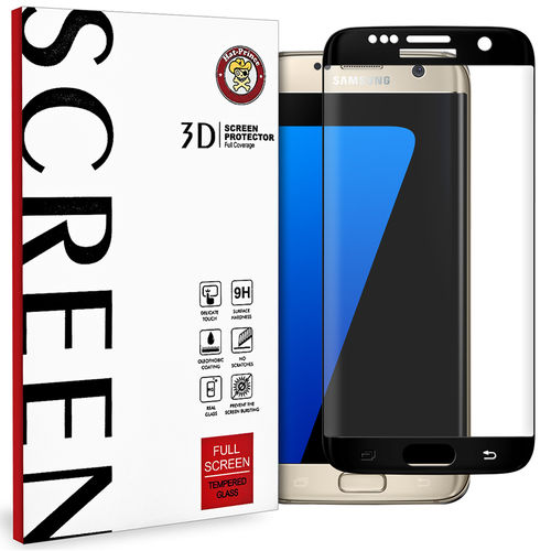 3D Tempered Glass Screen Protector for Samsung Galaxy S7 Edge - Black